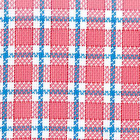 Orange Twill Plaid Custom Shirt Fabric