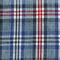 Gray Brd Plaid Custom Shirt Fabric