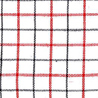 Red Linen Check Custom Shirt Fabric
