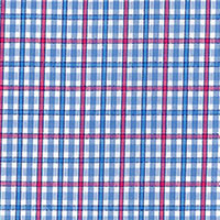Blue Brd Check Custom Shirt Fabric