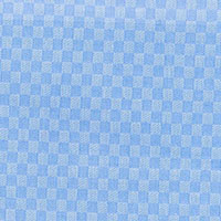 Blue Satin Check Custom Shirt Fabric