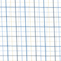 Wht W/Tan/Blue Check Custom Shirt Fabric
