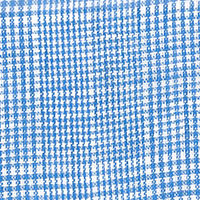 Blue Linen Plaid Custom Shirt Fabric