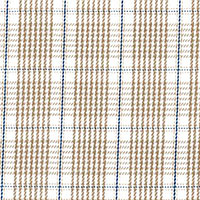 Tan 100 Cotton E/E Plaid Custom Shirt Fabric