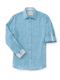 TURQUOISE Long Sleeve Sport Shirts by Report
