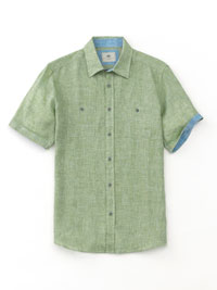 GREEN Short Sleeve Sport Shirts by Report