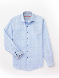 LT BLUE Sport Shirt by Robert Graham