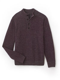 Aubergine Sweater by Tom James