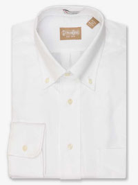 WHITE Solid Cambridge Oxford Dress Shirt