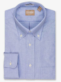 BLUE Solid Cambridge Oxford Dress Shirt
