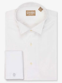 WHITE Formal Dress Shirt with Wing Tip Collar