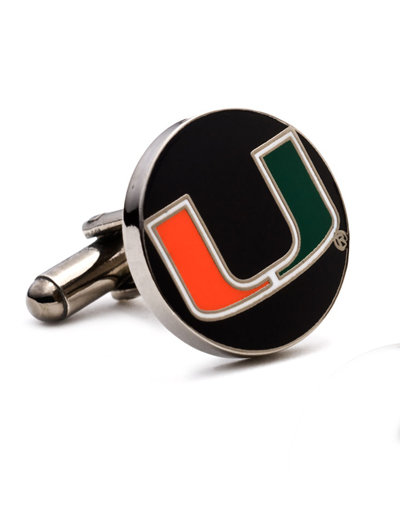 NCAA University of Miami Hurricanes Cufflinks