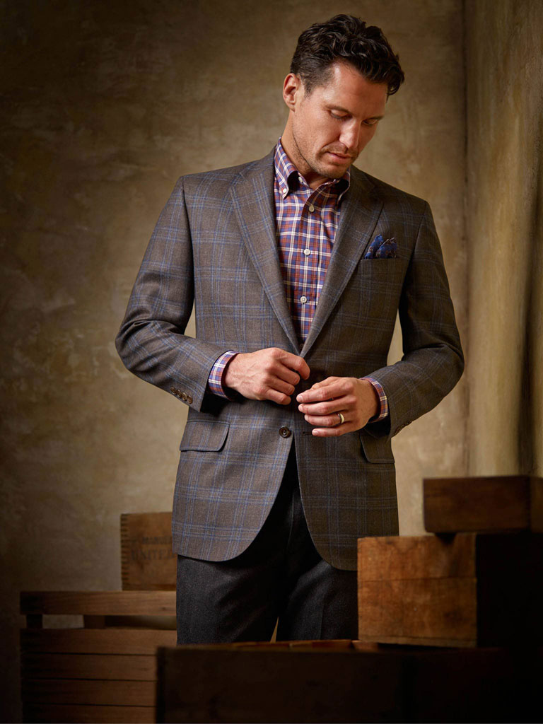 Plaid Sportcoat by Tom James