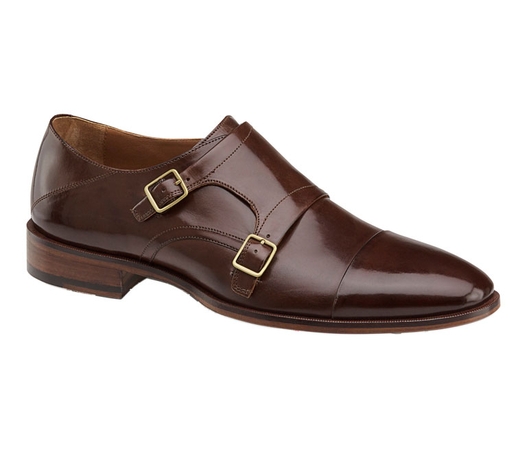 Nolen Double Buckle Dark Brown Italian Calfskin