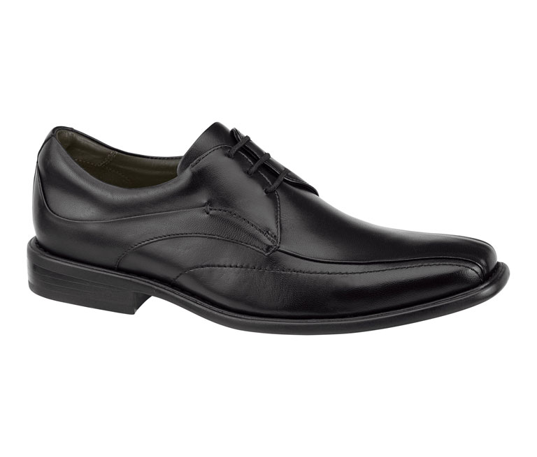 Tilden Lace-Up Black Smooth Calfskin