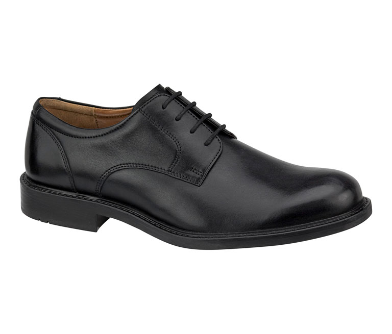 Tabor Plain Toe Black Calfskin