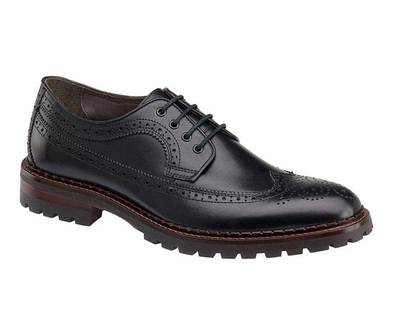 Jennings Wingtip Black Calfskin