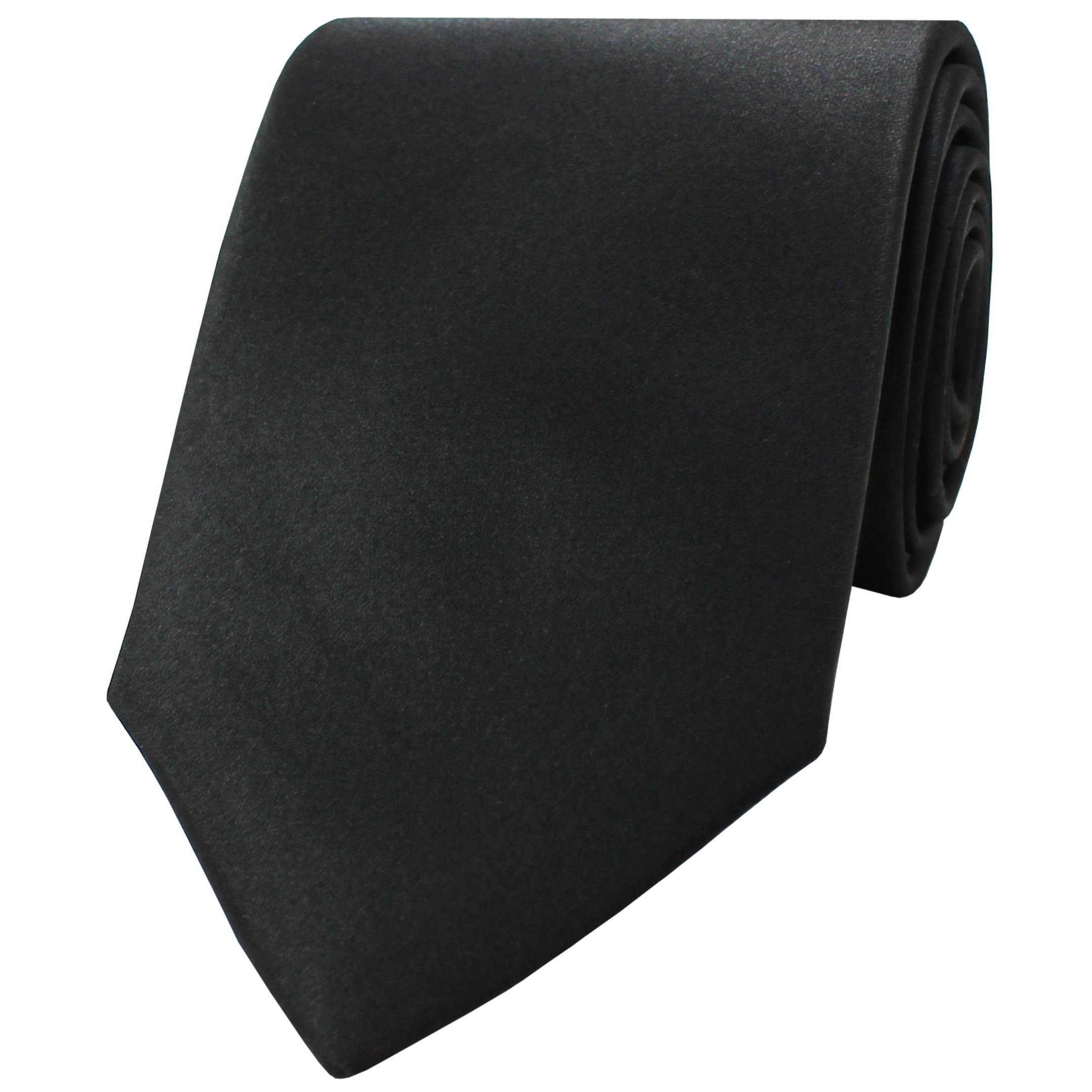 SATIN NECKTIE - BLACK