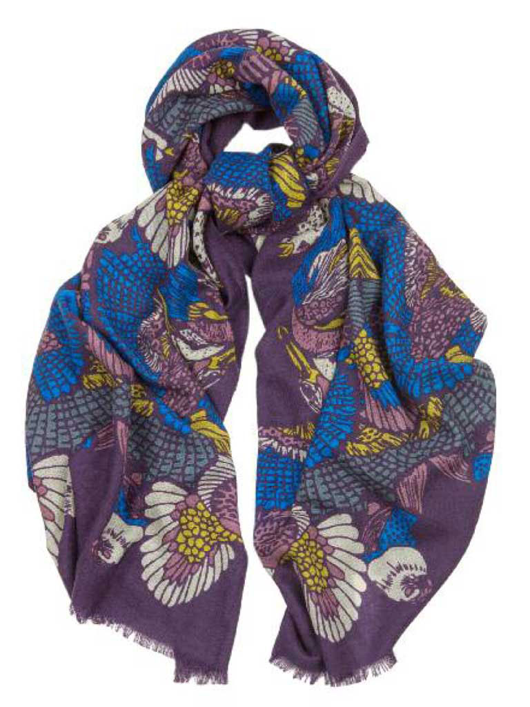 Capercallie Print Lightweight Stole by Hogarth