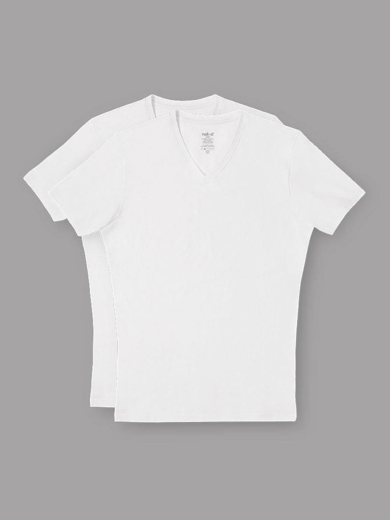Naked Essential V-Neck Undershirt (2-Pack)