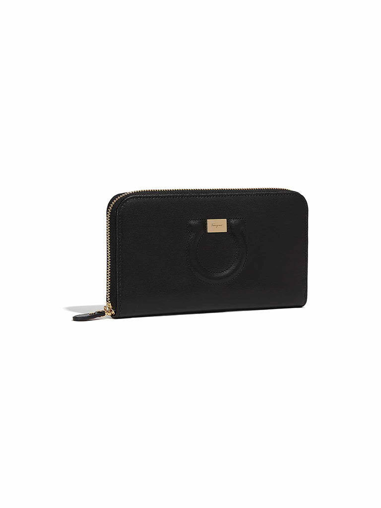 "Ferragamo ""City"" Zip Around Wallet"