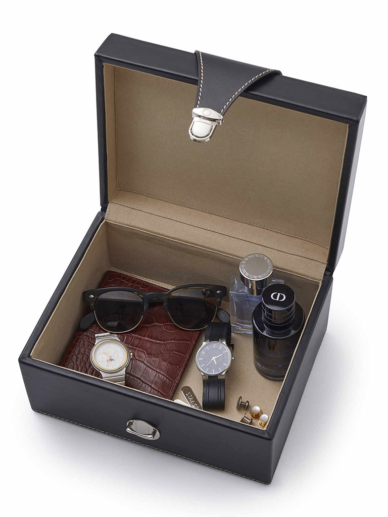 Leather Valet Box