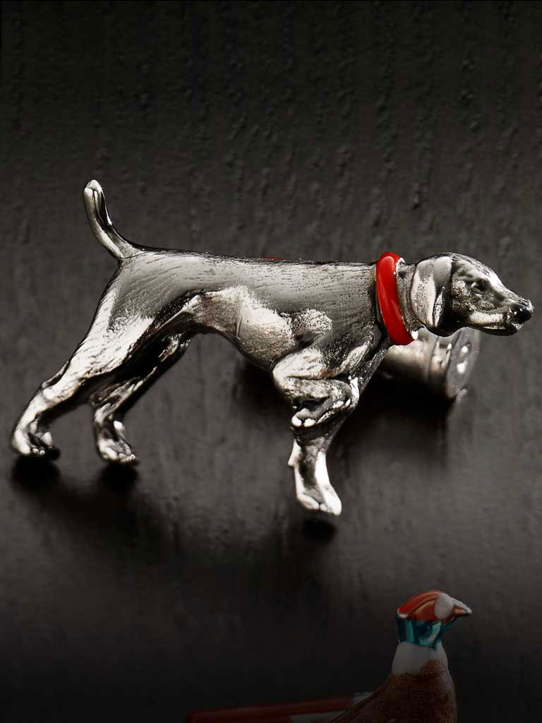 Pointer Dog Hand Painted Cufflinks