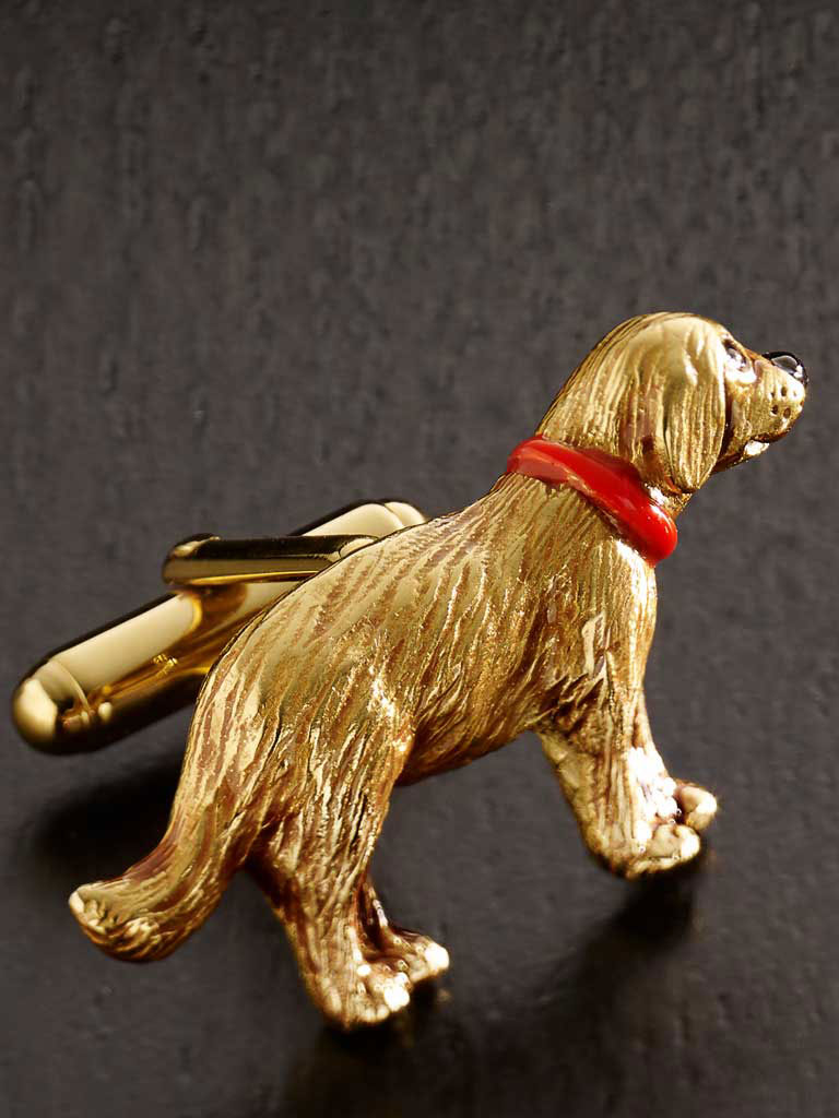 Golden Retriever Hand Painted Cufflinks