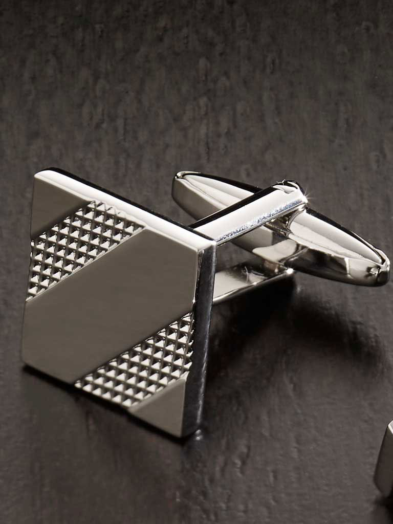 Etched Square Cufflinks