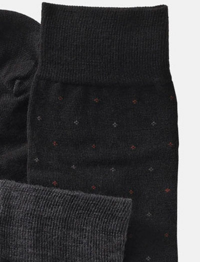 Mid-Calf Wool Dot Socks