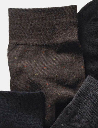 Over-The-Calf Wool Dot Socks