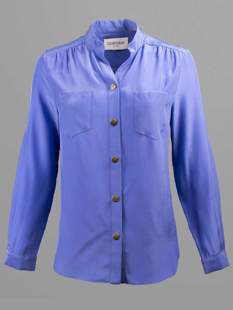 Silk Twill Blouse by Elizabeth McKay