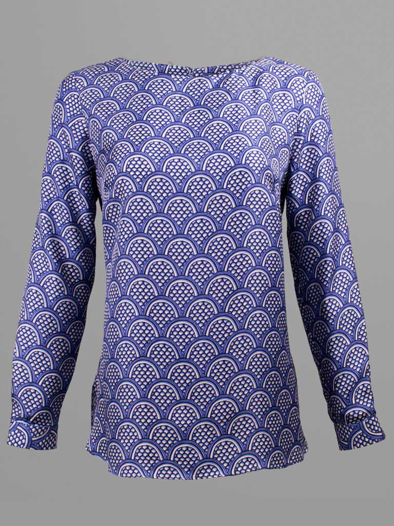 Sheek Print Silk Blouse by Elizabeth McKay