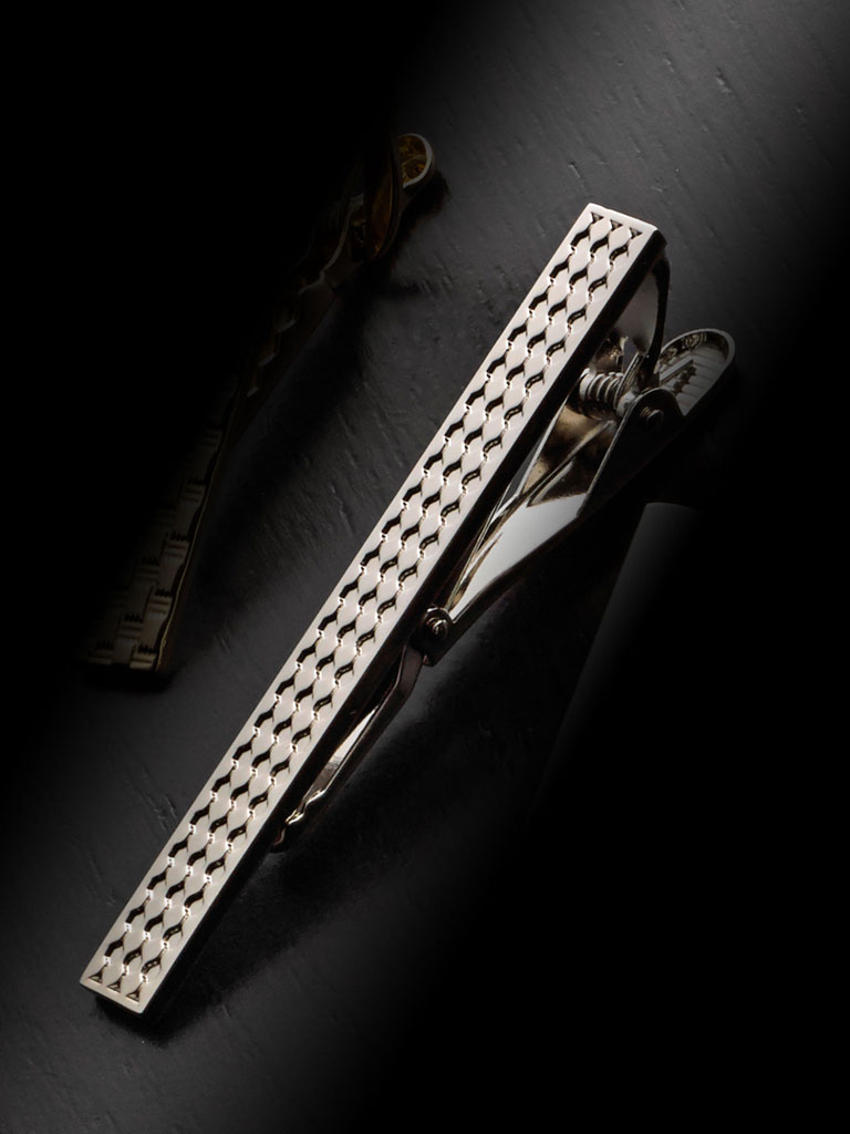 Chess Pattern Tie Bar By Tom James