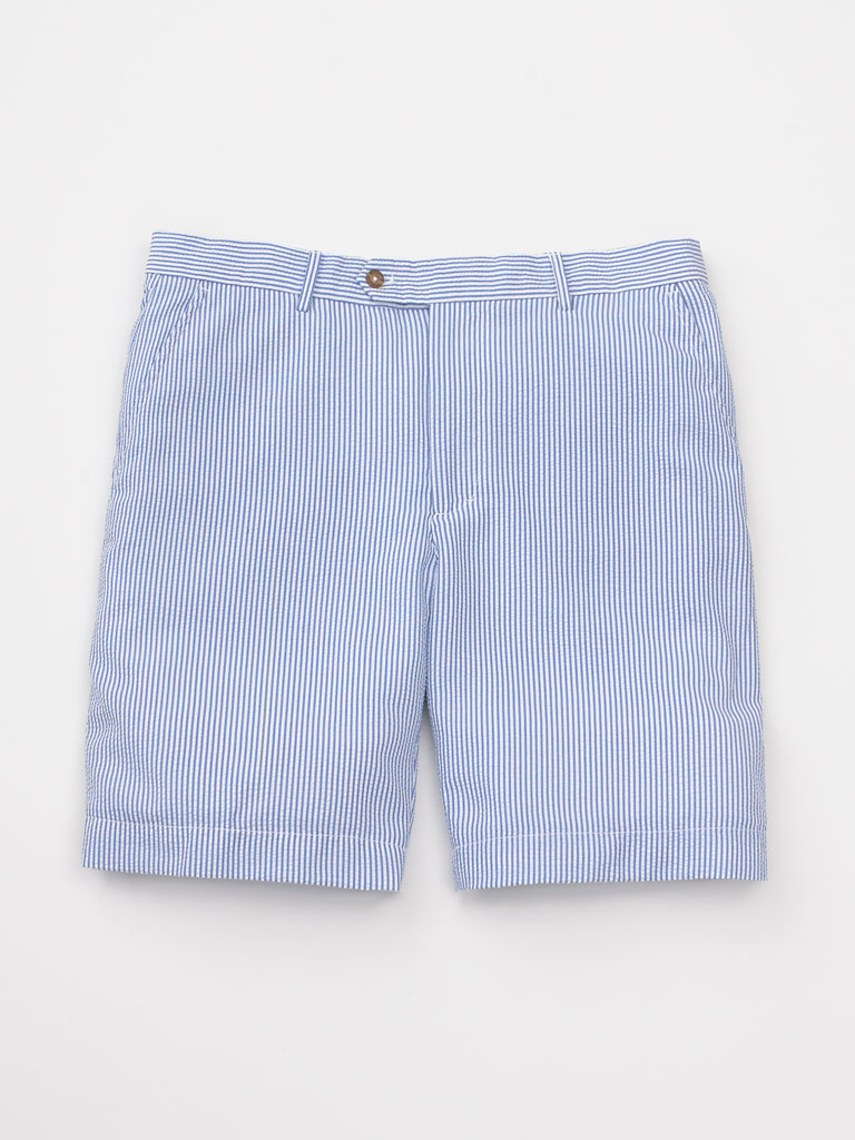 Seersucker Flat Front Shorts by Fairway and Greene