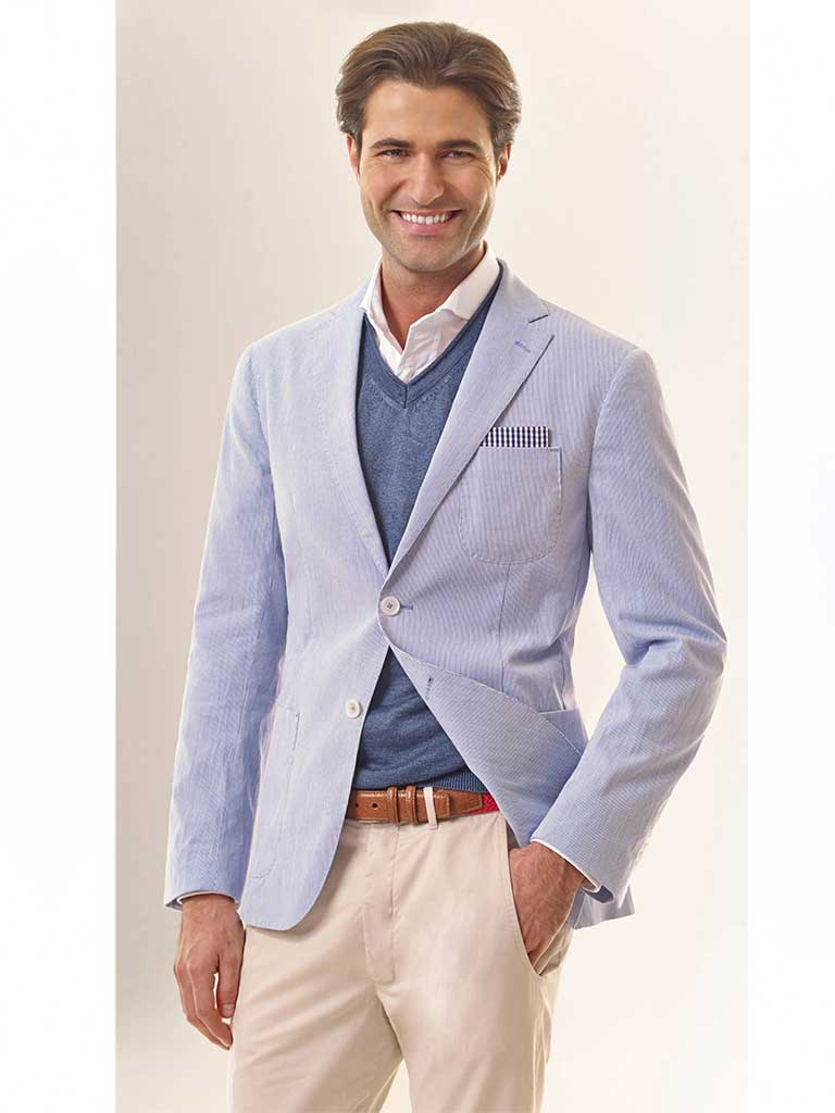 Pincord Cotton Blazer