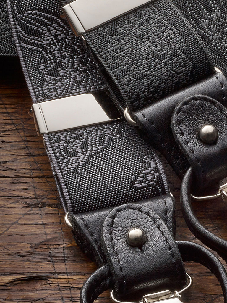Black Formal Braces by The British Belt Company