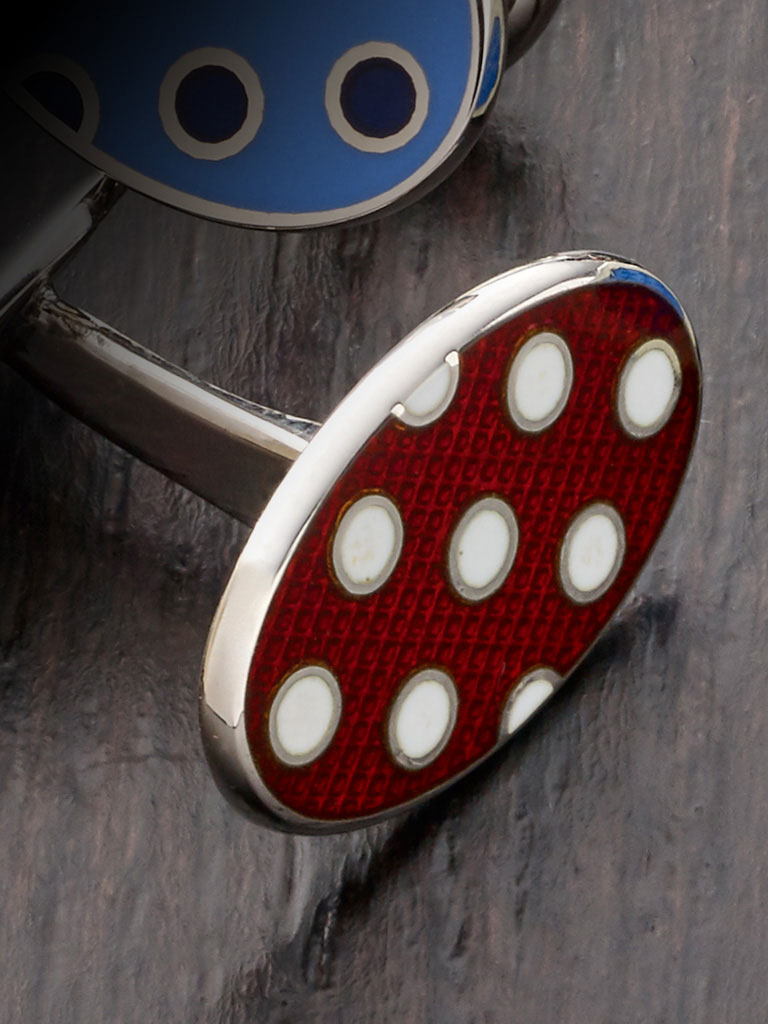 Sterling Silver, Rhodium Finish, Vitreous Enamel