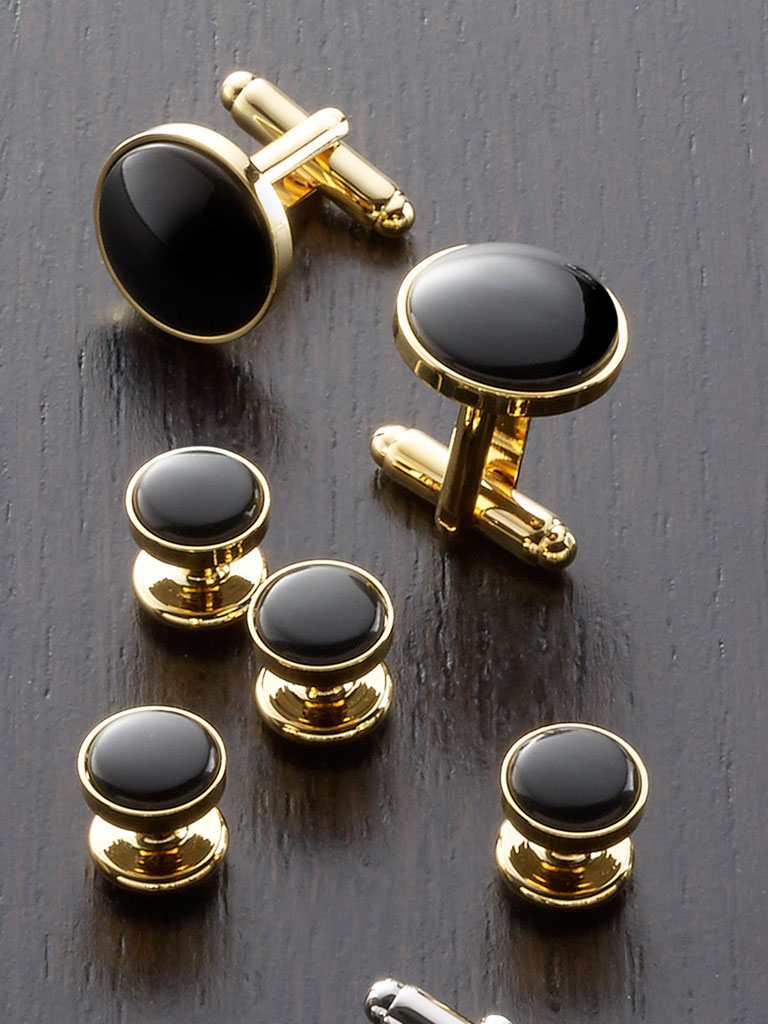 Black Onyx Stud Set