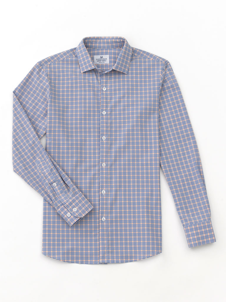 Small Check Sport Shirt by  Mizzen & Main