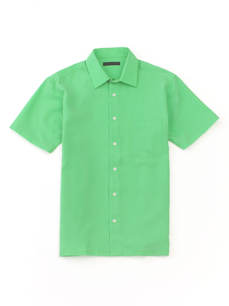 Solid Short Sleeve Sport Shirt by Report
