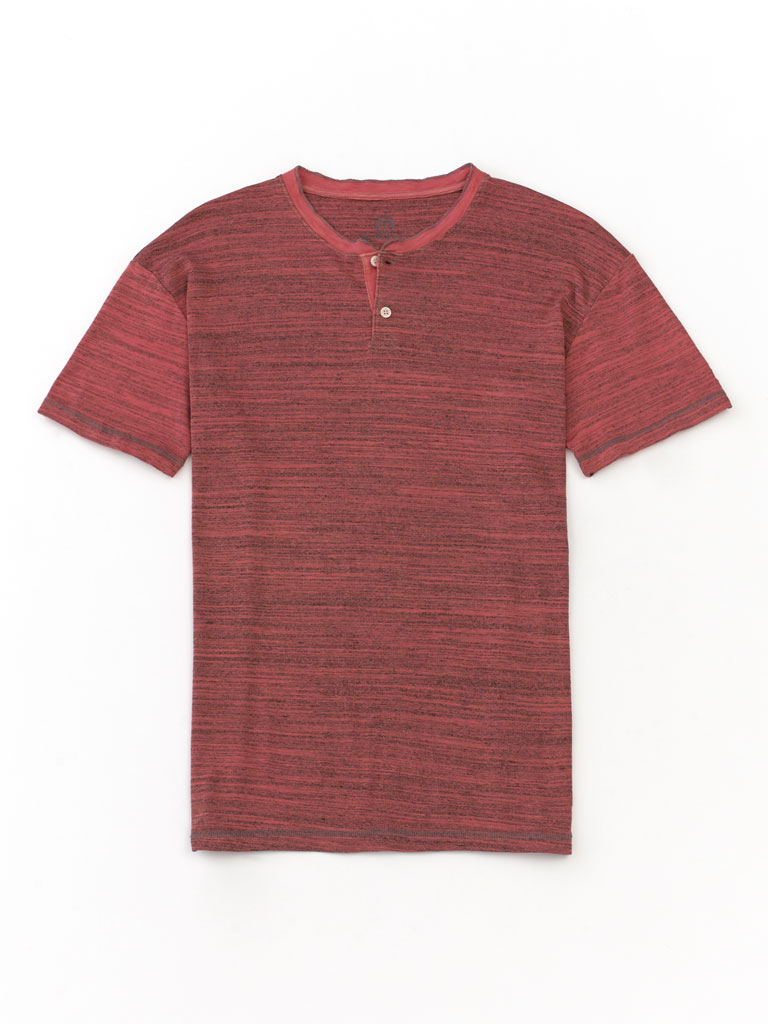 Short Sleeve Streaky Stripe Henley by Tom James