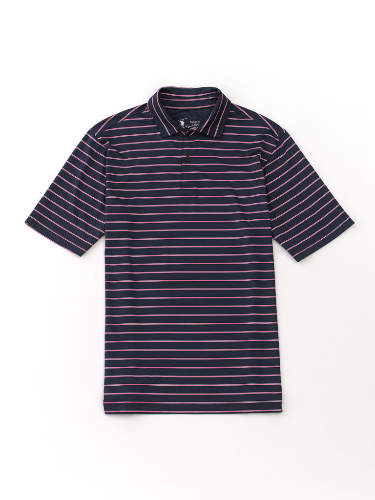 Patriot Stripe Tech Knit Polo by Fairway & Greene