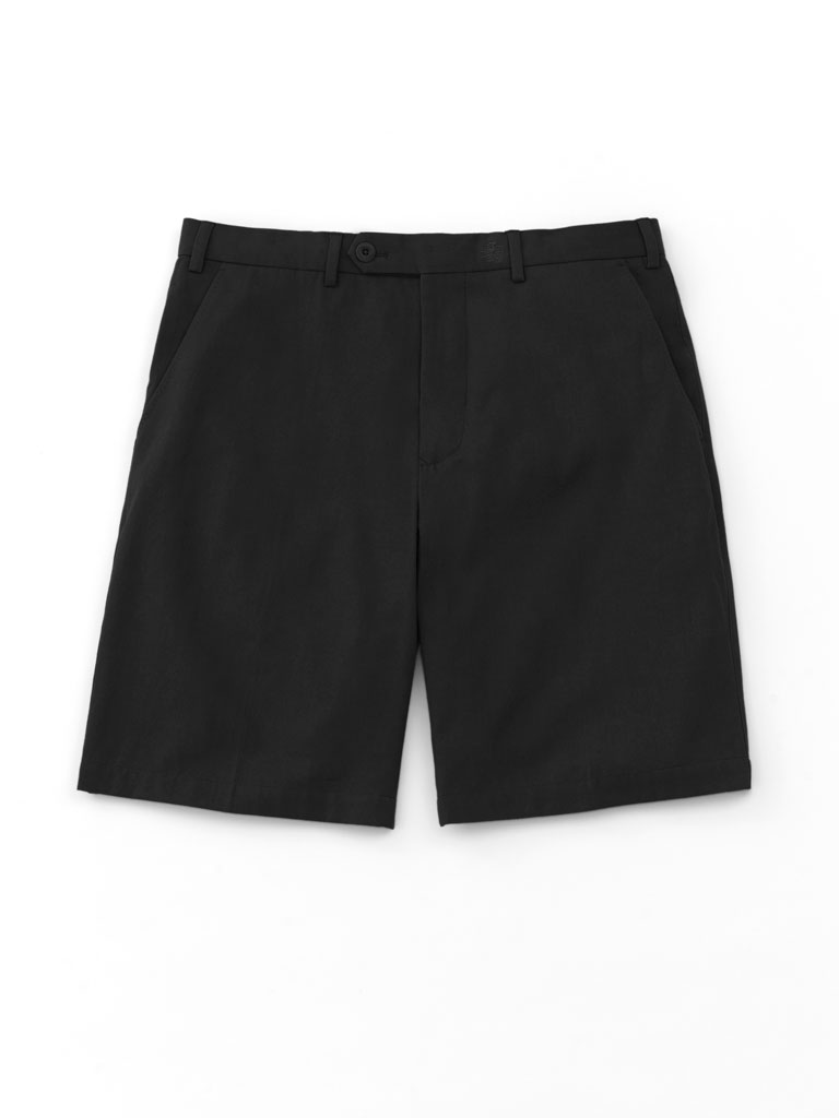 Solid Flat Front Cotton Shorts by Nat Nast