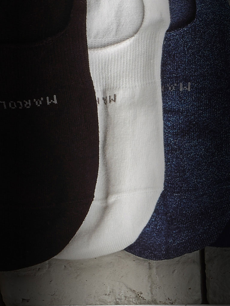 Solid NO SHOW Socks by Marcoliani