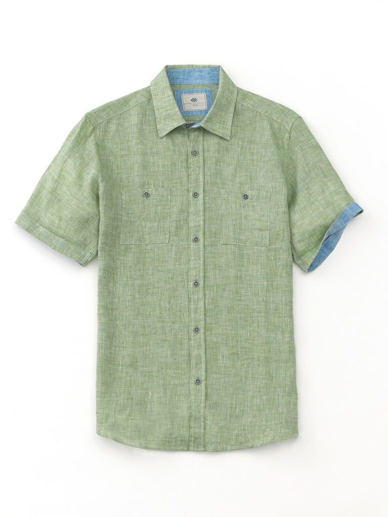Short Sleeve Linen Sport Shirt by Report