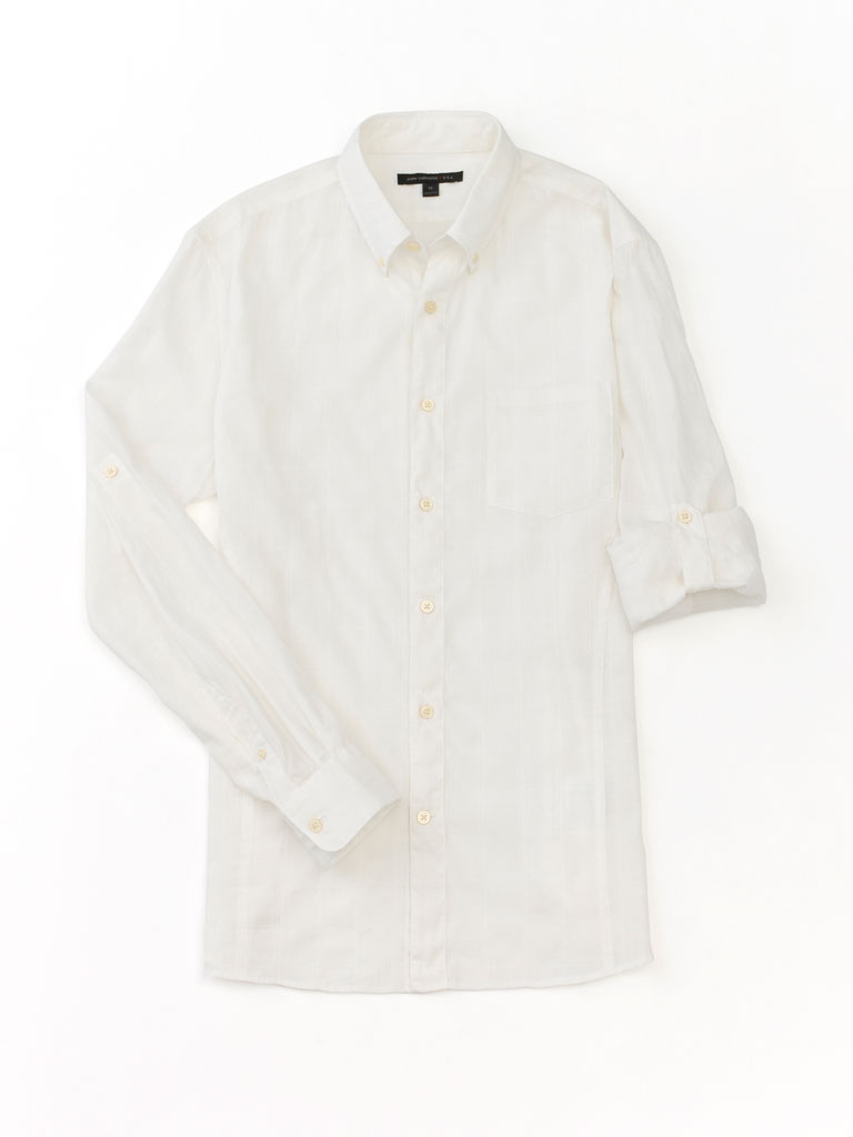Self-Plaid Sport Shirt by John Varvatos