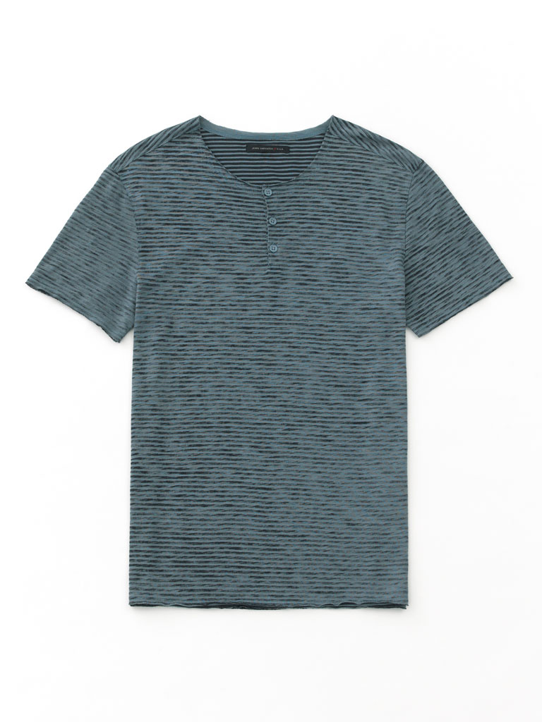 Short Sleeve Henley by John Varvatos