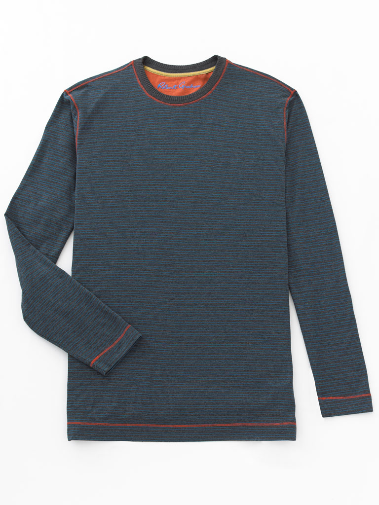 Long Sleeve Crew Knit by Robert Graham