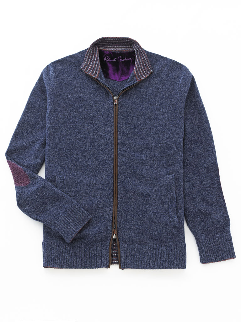 Full Zip Cardigan Sweater  by Robert Graham